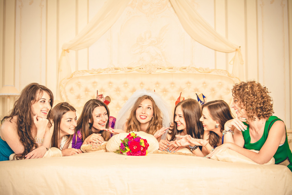 a bride with her friends